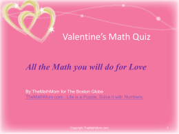 Valentine`s Math Quiz: All The Math You Will Do For