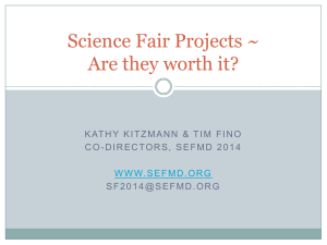 Science Fair Projects ~ Are they worth it?