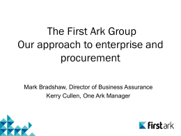 First Ark Presentation