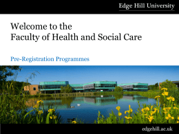 Applying to Health and Social Care Courses