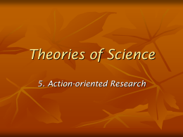 5. Action Oriented Research