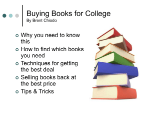 Buying Books for College