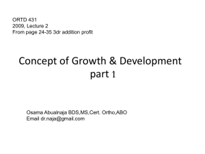 Concept of Growth & Development