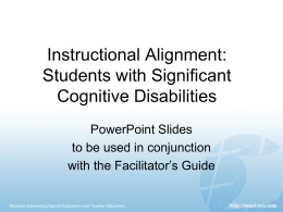 Powerpoint® Instructional Alignment - MAST