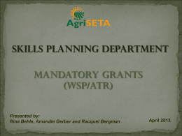 2013 Mandatory Grants