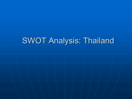 SWOT Analysis: Thailand