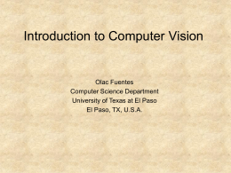 Intro to C.V. - Department of Computer Science
