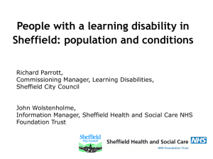 People with a learning disability in Sheffield