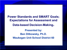 Power Standards and SMART GOALS