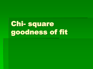 Chi- square goodness of fit Is your die fair—1 more time.