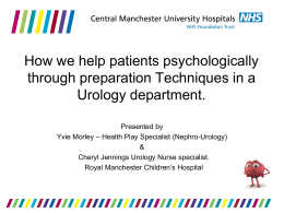 Urology - Central Manchester University Hospitals