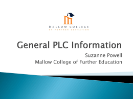 PLC Information - Careers and Education News