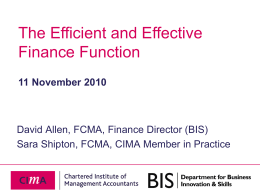 The Efficient and Effective Finance Function
