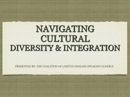 NAVIGATING CULTURAL DIVERSITY & INTEGRATION