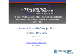 National Council of Nonprofits Contract Research