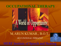 Occupational Therapy (Click to download)