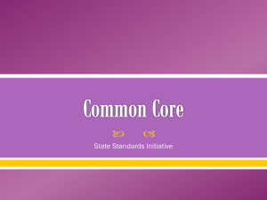 Common Core Overview PowerPoint