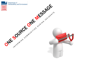 One Source One Message
