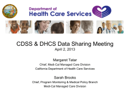 DRAFT-CDSS-DHCS-Data-Sharing-Presentation