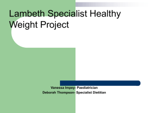 3a. Lambeth Specialist Healthy Weight Project July 2014