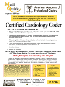 Certified Cardiology Coder (CCC)