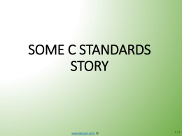 C Standards & IDEs/Compilers