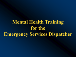 27. Crisis Intervention Training (CIT)/Mental Health Code