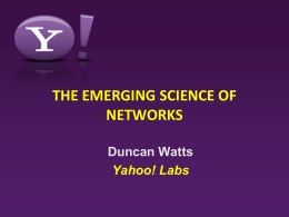 The Emerging Science of Networks