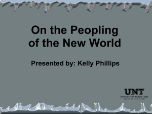 On the Peopling of the New World