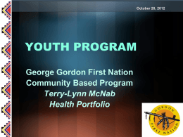GGFN Youth Program Presentation October 2012