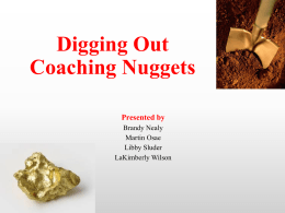 Title of Training Digging Out Coaching Nuggets