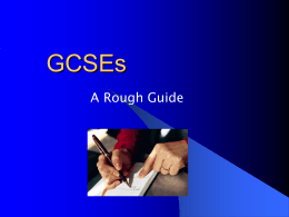 to the GCSE guide