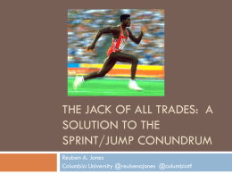 Managing A Jumper Who Sprints….Or A Sprinter Who Jumps??
