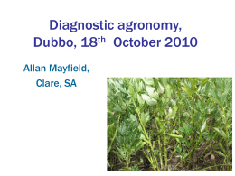 Alan Mayfield – diagnostic agronomy