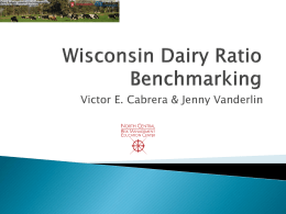 Wisconsin Dairy Ratio Benchmarking Tool