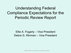 Understanding Federal Compliance Expectations for the Periodic