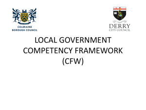 LOCAL GOVERNMENT COMPETECY FRAMEWORK (CFW)