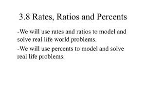 3.8 Rates, Ratios and Percents