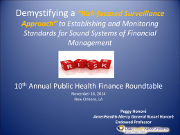 Demystifying a risk-focused surveillance approach to financial