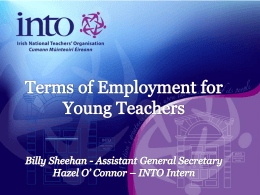 Conditions of Employment for Young Teachers