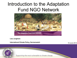 PPT, 1.7 MB - adaptation fund network