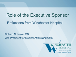 Role of the Executive Sponsor: Reflections from Winchester Hospital