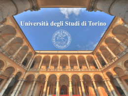 Presentation made by the University of Turin (partner)