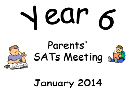 SATs Powerpoint presentation for parents