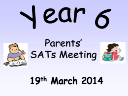 What are KS2 SATs? - Elm Wood Primary School