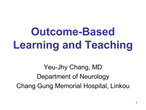 【場次五】Outcome-Based Learning and Teaching