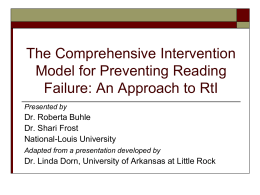 The Comprehensive Intervention Model for Preventing Reading
