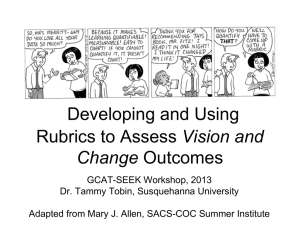 Developing and Using Rubrics to Assess Vision and Change