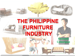 Philippine Furniture Industry SITUATIONER