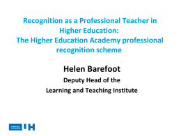 HEA`s National Accreditation Scheme